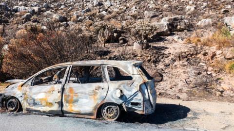 Auto ongeluk in Zwaag